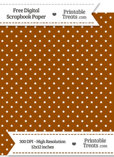 Brown Mini Stars Digital Paper from PrintableTreats.com