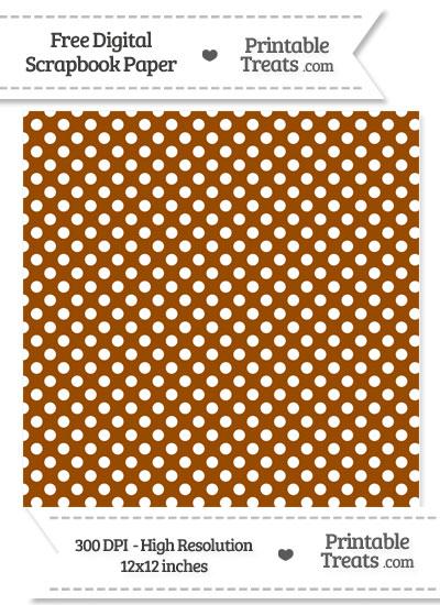 Brown Polka Dot Digital Paper from PrintableTreats.com
