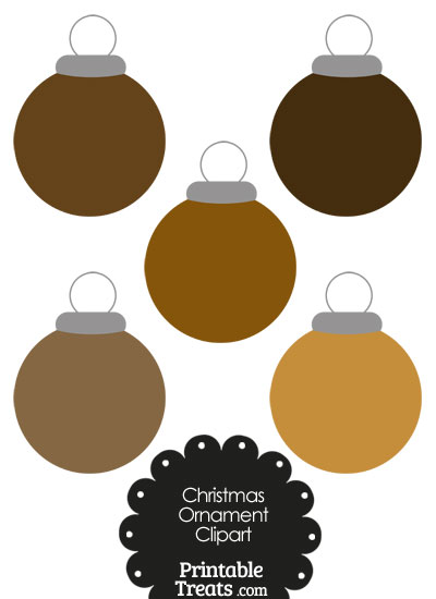 Brown Round Ornament Clipart from PrintableTreats.com