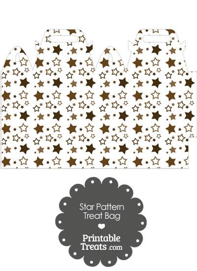 Brown Star Pattern Treat Bag from PrintableTreats.com