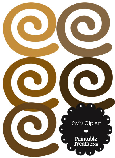 Brown Swirls Clipart from PrintableTreats.com