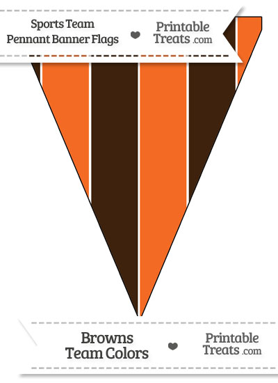 Browns Colors Pennant Banner Flag from PrintableTreats.com