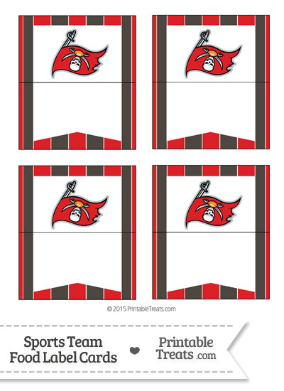 Buccaneers Food Label Buffet Cards from PrintableTreats.com