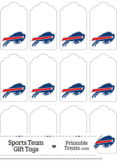 Buffalo Bills Gift Tags from PrintableTreats.com