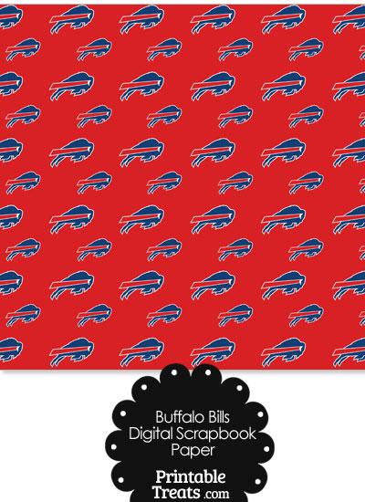 Buffalo Bills Logo Digital Paper from PrintableTreats.com