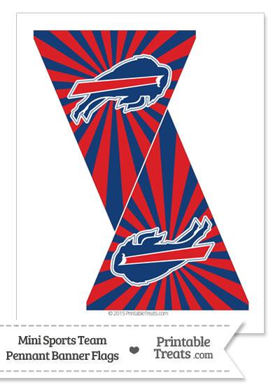 Buffalo Bills Mini Pennant Banner Flags from PrintableTreats.com
