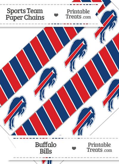 Buffalo Bills Paper Chains from PrintableTreats.com