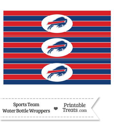 Buffalo Bills Water Bottle Wrappers from PrintableTreats.com