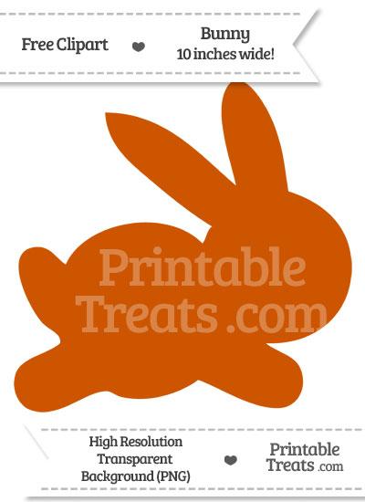 Burnt Orange Bunny Clipart from PrintableTreats.com