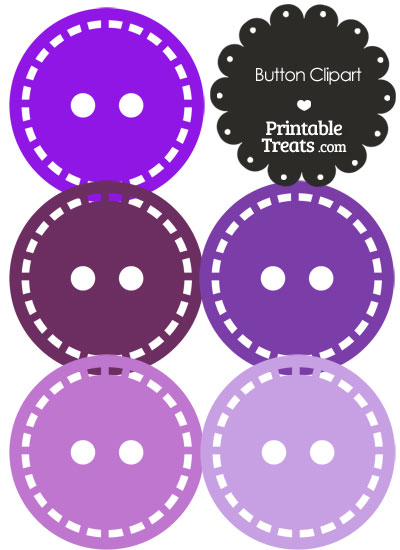 Button Clipart in Shades of Purple from PrintableTreats.com