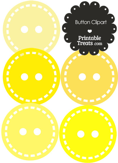 Button Clipart in Shades of Yellow from PrintableTreats.com