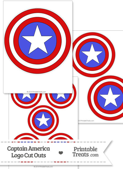 Captain America Logo Cut Out from PrintableTreats.com