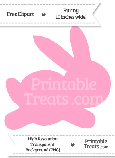 Carnation Pink Bunny Clipart from PrintableTreats.com