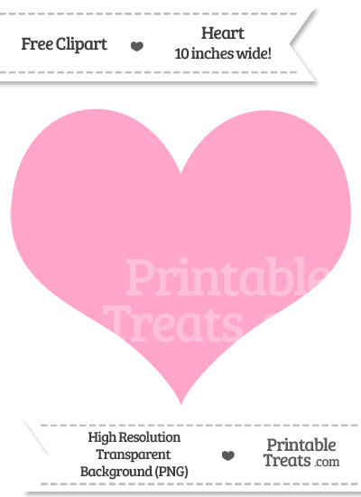 Carnation Pink Heart Clipart from PrintableTreats.com