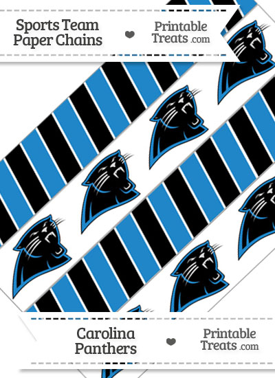 Carolina Panthers Paper Chains from PrintableTreats.com