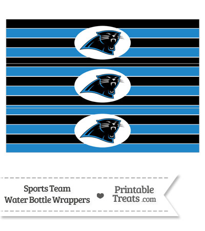 Carolina Panthers Water Bottle Wrappers from PrintableTreats.com