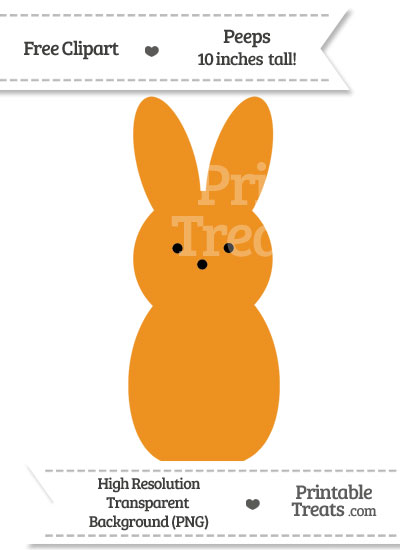 Carrot Orange Peeps Clipart from PrintableTreats.com