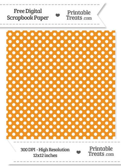 Carrot Orange Polka Dot Digital Paper from PrintableTreats.com