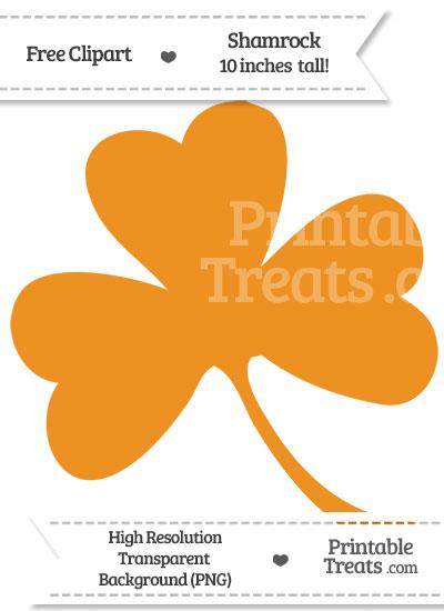 Carrot Orange Shamrock Clipart from PrintableTreats.com