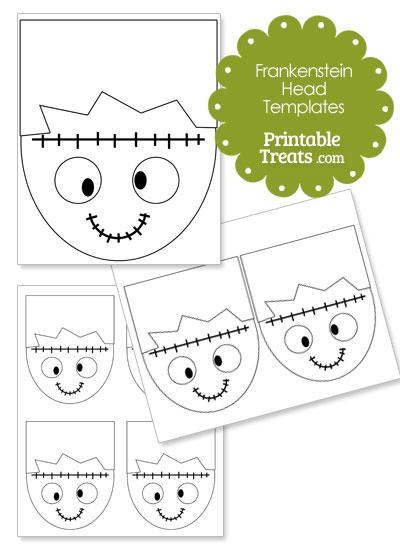 Cartoon Frankenstein Head Template from PrintableTreats.com