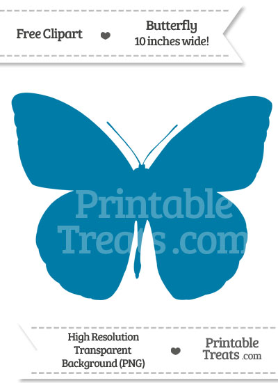Cerulean Blue Butterfly Clipart from PrintableTreats.com