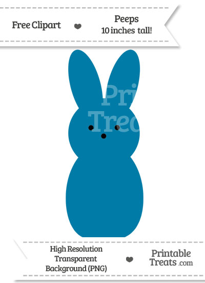 Cerulean Blue Peeps Clipart from PrintableTreats.com