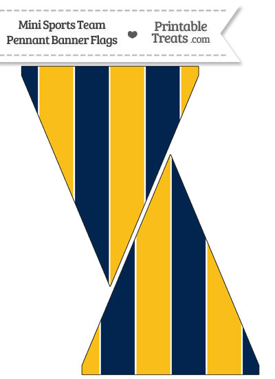 Chargers Colors Mini Pennant Banner Flags from PrintableTreats.com
