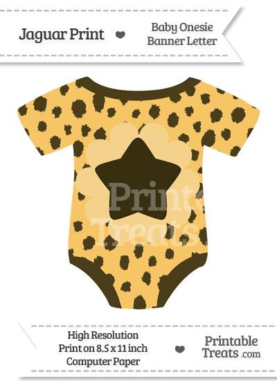 Cheetah Print Baby Onesie Shaped Banner Star End Flag from PrintableTreats.com