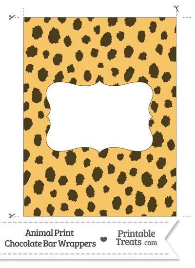 Cheetah Print Chocolate Bar Wrappers from PrintableTreats.com