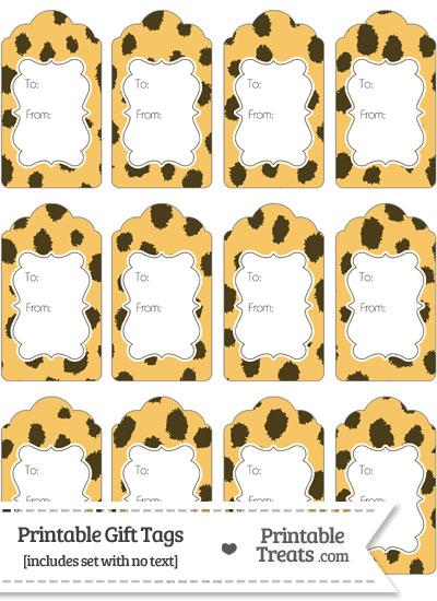 Cheetah Print Gift Tags from PrintableTreats.com