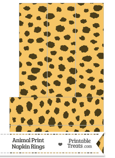 Cheetah Print Napkin Rings from PrintableTreats.com
