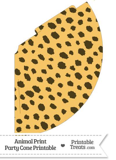 Cheetah Print Party Cone from PrintableTreats.com