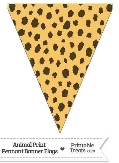Cheetah Print Pennant Banner Flag from PrintableTreats.com