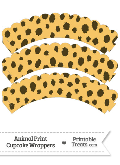 Cheetah Print Scalloped Cupcake Wrappers from PrintableTreats.com
