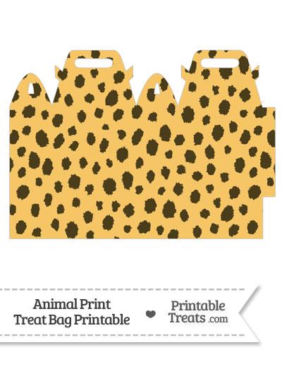 Cheetah Print Treat Bag from PrintableTreats.com