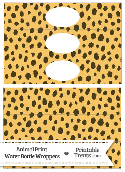 Cheetah Print Water Bottle Wrappers from PrintableTreats.com