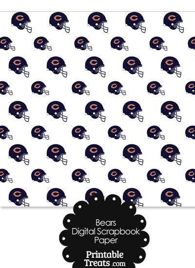 Chicago Bears Football Helmet Digital Paper from PrintableTreats.com