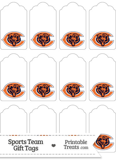 Chicago Bears Gift Tags from PrintableTreats.com