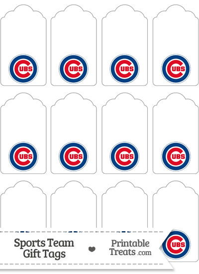 Chicago Cubs Gift Tags from PrintableTreats.com