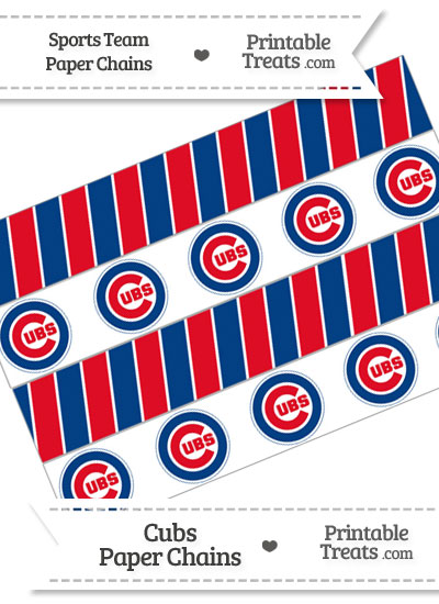 Chicago Cubs Paper Chains from PrintableTreats.com