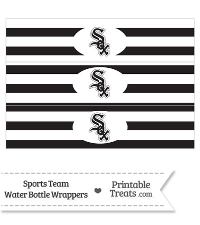 Chicago White Sox Water Bottle Wrappers from PrintableTreats.com