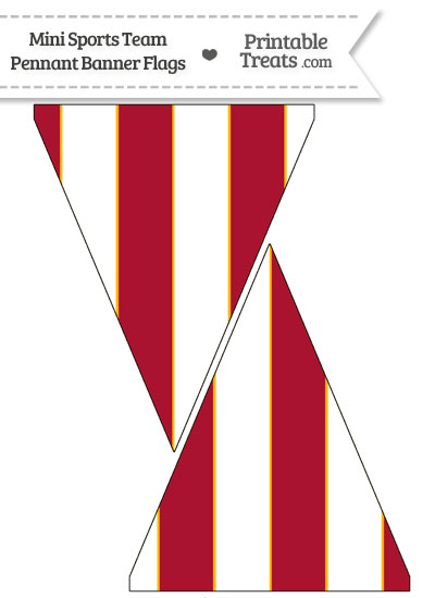 Chiefs Colors Mini Pennant Banner Flags from PrintableTreats.com