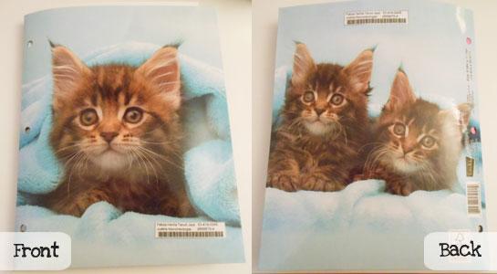 child sponsorship gift ideas kitten folder