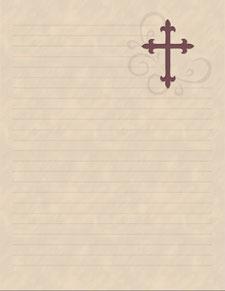 christian printable stationery