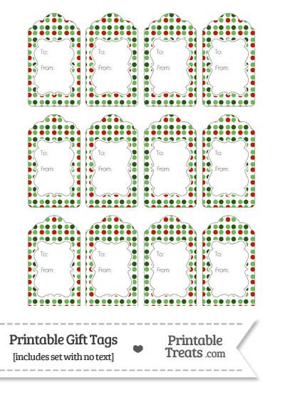 Christmas Dots Gift Tags from PrintableTreats.com