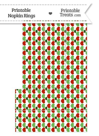Christmas Hearts Napkin Rings from PrintableTreats.com