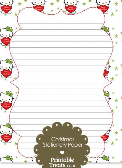 Christmas Hello Kitty Stationery Paper from PrintableTreats.com