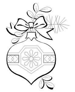 christmas ornament coloring sheet