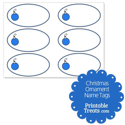 Christmas ornament name tags