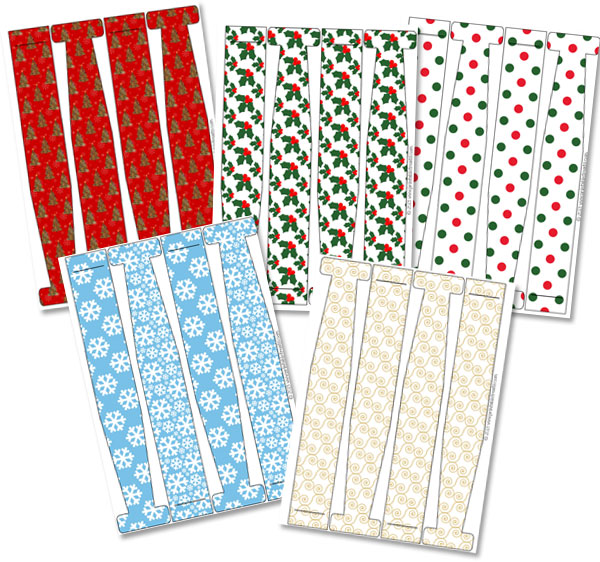 christmas paper chain printables